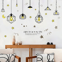 Load image into Gallery viewer, Modern Star Moon Wallpaper Background Baby Room Home Office Wall Sticker Decor - shopbabyitems