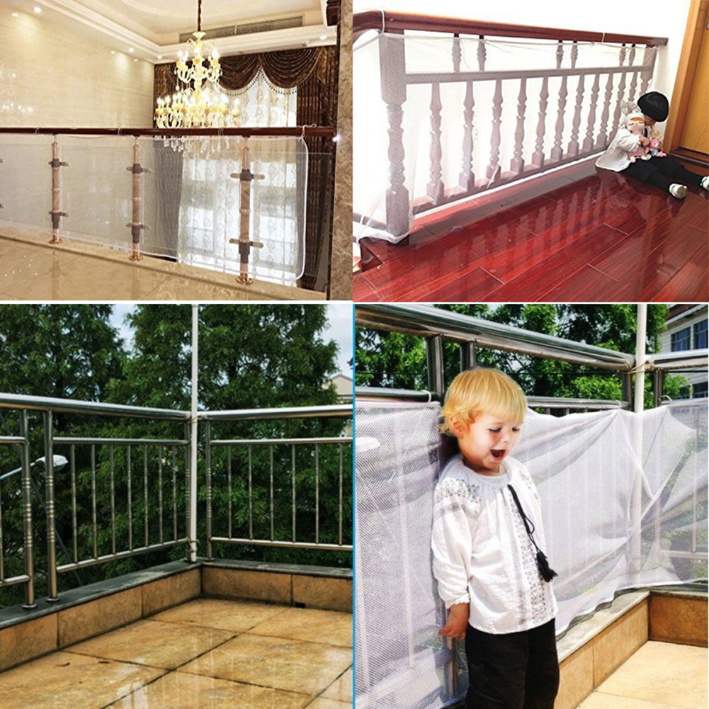 Baby Children Safety Thicken Fence Net Home Balcony Stairs Railing Protector - shopbabyitems