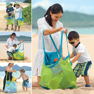 Baby Children Beach Sand Toys Mesh Bag Clothes Towel Collection Storage Tool - shopbabyitems