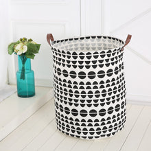 Load image into Gallery viewer, Nordic Style Baby Kids Toy Clothes Storage Canvas Laundry Basket Organizer Tool - shopbabyitems