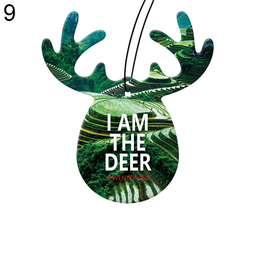 Cute Antlers Solid Fragrance Perfume Air Freshener Car Hanging Ornament Decor - shopbabyitems