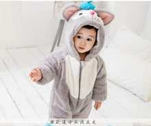 Load image into Gallery viewer, Winter Kids Cute cat Onesies Pajamas Costumes Jumpsuits Baby Creeping Suit Plus Velvet Coat thick warm 0-3Y PL-002 - shopbabyitems