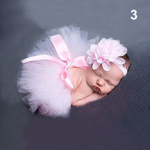 Load image into Gallery viewer, Newborn Toddler Baby Girl Tutu Skirt + Flower Headband Photo Prop Costume Outfit - shopbabyitems