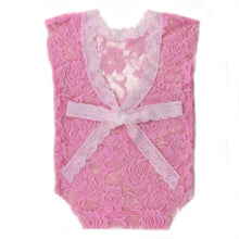 Load image into Gallery viewer, Newborn Baby Girls V-Neck Romper Backless Floral Lace Bow Sleeveless Bodysuit - shopbabyitems