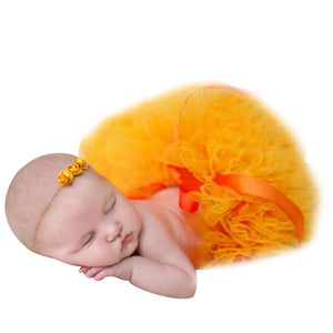 Baby Girl Newborn Cute Flower Headband and Tutu Skirt Costume Photo Prop Outfit - shopbabyitems