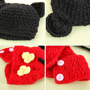 Baby Crochet Photo Props Pants Infant Baby Knitted Animal Pattern Beanie Hat Clothes - shopbabyitems