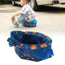 Load image into Gallery viewer, Toddler Baby Foldable Disposabale Potty Car Outdoor Emergency Mobile Toilet - shopbabyitems