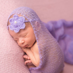 Newborn Baby Boy Girl Faux Mohair Wrap Knit Photography Prop Baby Photo Prop - shopbabyitems