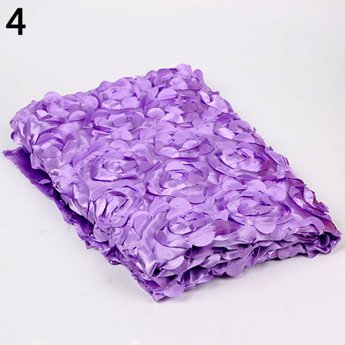 Fashion 3D Rose Flower Pattern Baby Photography Photo Prop Backdrop Blanket Rug - shopbabyitems