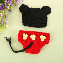 Load image into Gallery viewer, Baby Crochet Photo Props Pants Infant Baby Knitted Animal Pattern Beanie Hat Clothes - shopbabyitems