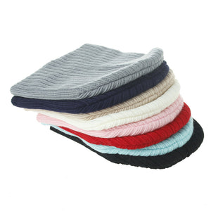 Infant Kids Newborn Baby Winter Warm Ribbed Beanie Soft Knitted Hat Casual Cap - shopbabyitems