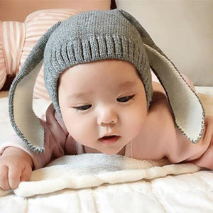 Winter Baby Toddler Kids Boy Girl Knitted Cap Cute Long Rabbit Ears Warm Hat - shopbabyitems