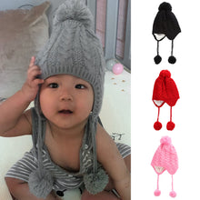 Load image into Gallery viewer, Lovely Acrylic Knitting Pom Pom Ball Kids Baby Hat Beanie Outdoor Head Warmer - shopbabyitems