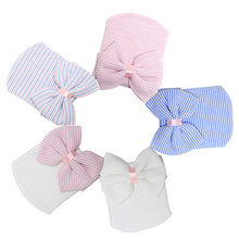 Load image into Gallery viewer, Cute Newborn Baby Infant Girl Toddler Comfy Bowknot Hospital Cap Beanie Hat - shopbabyitems