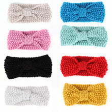 Load image into Gallery viewer, Lovely Baby Kids Girls Bowknot Knitted Headband Hair Band Headwear Photo Prop - shopbabyitems