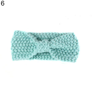 Lovely Baby Kids Girls Bowknot Knitted Headband Hair Band Headwear Photo Prop - shopbabyitems