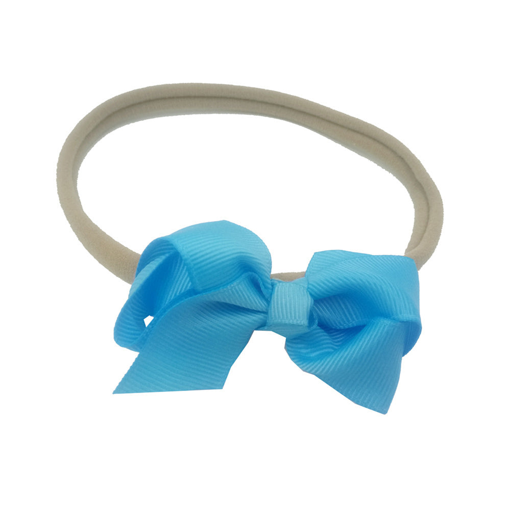 Kid Baby Girls Children Lovely Bowknot Hair Band Headwrap Headband Soft Gift - shopbabyitems