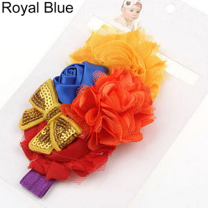 Baby Girls Kids Rose Flower Bowknot Elastic Headband Headwear Hair Accessories - shopbabyitems