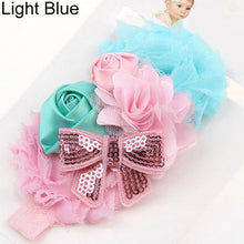 Load image into Gallery viewer, Baby Girls Kids Rose Flower Bowknot Elastic Headband Headwear Hair Accessories - shopbabyitems