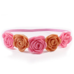 Kids Baby Girls Rose Flower Headband Hair Band Beach Headwear Photography Props - shopbabyitems