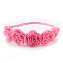 Load image into Gallery viewer, Kids Baby Girls Rose Flower Headband Hair Band Beach Headwear Photography Props - shopbabyitems