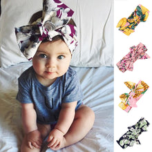 Load image into Gallery viewer, Cute Fruit Flower Baby Girls Kids Bowknot Turban Headband Hair Accessories - shopbabyitems
