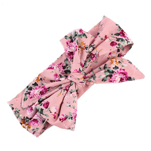 Cute Fruit Flower Baby Girls Kids Bowknot Turban Headband Hair Accessories - shopbabyitems