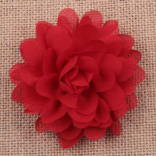 Load image into Gallery viewer, 10Pcs Mixed Color Baby Infant Girls Chiffon Flower No Clip DIY Hair Accessory - shopbabyitems
