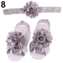 Load image into Gallery viewer, Lovely Baby Girls Lace Flower Hairband Floral Shoes Band Headband Headwear Gift - shopbabyitems