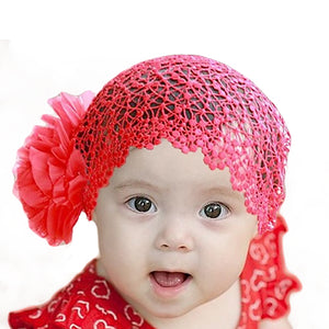Cute Flower Headband Baby Girl Infant Elastic Hollow Princess Hairband Gift - shopbabyitems