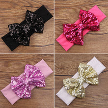 Load image into Gallery viewer, Baby Infant Cute Elastic Hair Band Sequins Bowknot Headband Xmas Party Gift - shopbabyitems