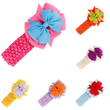 Load image into Gallery viewer, Kids Girls Bowknot Headbands Sweet Baby Infant Elastic Hair Band Hair Accessories - shopbabyitems