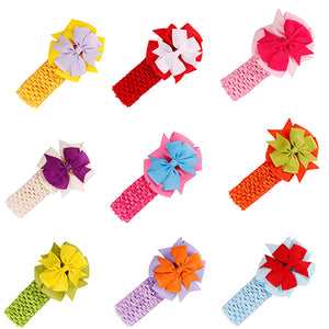 Kids Girls Bowknot Headbands Sweet Baby Infant Elastic Hair Band Hair Accessories - shopbabyitems