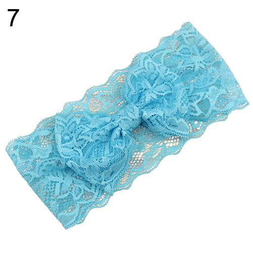 Kids Baby Girl Toddler Lace Bowknot Headband Hair Band Headwear Accessories - shopbabyitems