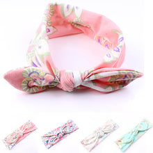 Load image into Gallery viewer, Baby Girls Lovely Floral Print Rabbit Ear Elastic Headband Hair Accessory Gift - shopbabyitems