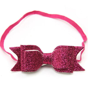 Cute Kid Baby Girls Glitter Big Bow Knot Elastic Hair Band Headwear Headband - shopbabyitems