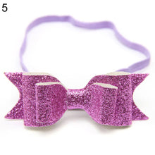 Load image into Gallery viewer, Cute Kid Baby Girls Glitter Big Bow Knot Elastic Hair Band Headwear Headband - shopbabyitems