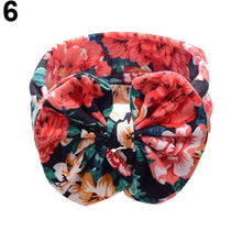 Load image into Gallery viewer, Newborn Baby Girls Fashion Flower Print Bowknot Headband Hair Band Headwear - shopbabyitems