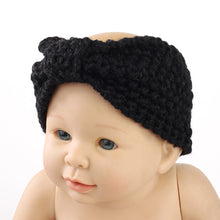 Load image into Gallery viewer, Baby Kid Girl Sweet Cute Bowknot Knit Crochet Headband Hair Band Wrap Headwear - shopbabyitems