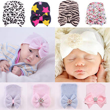 Load image into Gallery viewer, Cute Newborn Infant Baby Girls Toddler Bowknot Beanie Hat Cap Christmas Gift - shopbabyitems