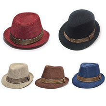 Load image into Gallery viewer, Unisex Kids' Fashion Cool Jazz Pitched Crown Short Brim Hat Cap Fedora Hat - shopbabyitems