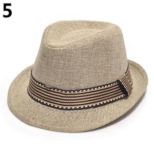 Unisex Kids' Fashion Cool Jazz Pitched Crown Short Brim Hat Cap Fedora Hat - shopbabyitems