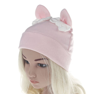 Autumn Winter Toddler Newborn Baby Girls Hat Rabbit Ears Bowknot Beanie Cap - shopbabyitems