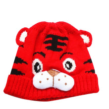 Load image into Gallery viewer, Baby Kids Boys Girls Cute Cartoon Tiger Bonnet Hat Soft Warm Knitted Beanie Cap - shopbabyitems