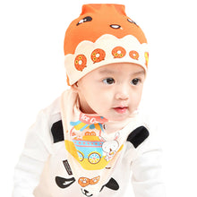 Load image into Gallery viewer, Cute Cartoon Donut Newborn Baby Photo Props Costume Hat + Triangle Baby Bib - shopbabyitems