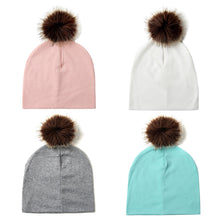 Load image into Gallery viewer, Infant Baby Kids Lovely Faux Fur Ball Cotton Knitted Soft Warm Hat Beanie Cap - shopbabyitems