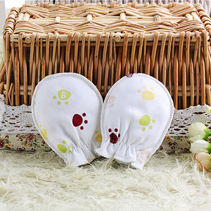 3Pair No-Scratch Baby Newborn Infant Soft Cotton Mittens Gloves Baby Shower Gift - shopbabyitems
