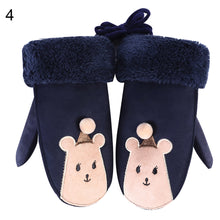 Load image into Gallery viewer, Winter Kids Baby Cartoon Animal Pompom Gloves Neck Hanging Full Finger Mittens - shopbabyitems