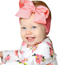 Load image into Gallery viewer, Baby Girls Toddler Solid Color Headband Bowknot Newborn Hair Band Headwear - shopbabyitems