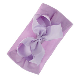 Baby Girls Toddler Solid Color Headband Bowknot Newborn Hair Band Headwear - shopbabyitems